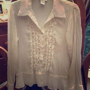 Timeless Worthington tuxedo blouse